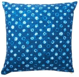 """ENCHANTE Shibori Dots Pillow - Blue - 22\""""x22\"""""""