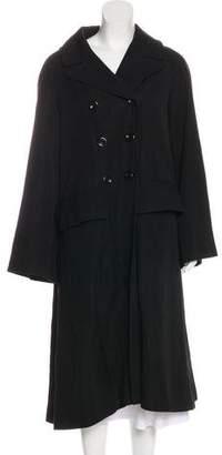 Dries Van Noten Double-Breasted Wool & Linen-Blend Coat