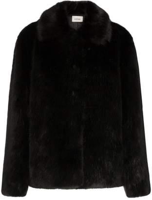 Totême collared faux fur jacket