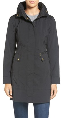 Women's Cole Haan Signature Back Bow Packable Hooded Raincoat $200 thestylecure.com