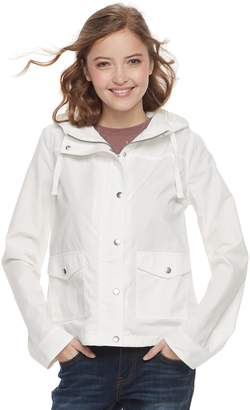 So Juniors' SO Hooded Utility Jacket