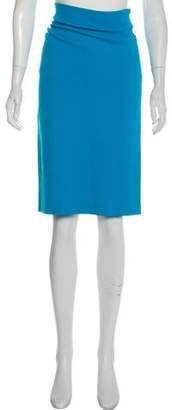 Cédric Charlier Ruched Midi Skirt