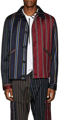 Loewe Men's Patchwork Striped Wool-Cotton Jacket
