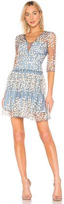 BCBGMAXAZRIA Embroidered Cocktail Dress