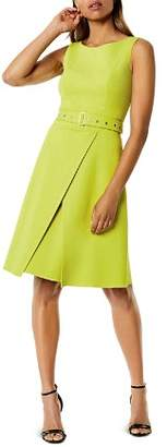 Karen Millen Belted A-Line Dress