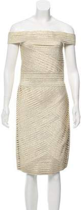 Pierre Balmain Pleated Knee-Length Dress w/ Tags