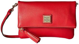 Dooney & Bourke Saffiano Fold-Over Zip Crossbody Cross Body Handbags