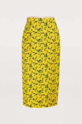 N°21 N 21 Flower midi skirt