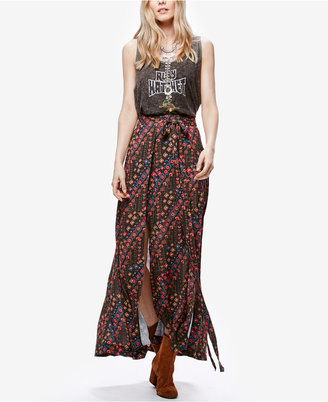 Free People Remember Me Printed Maxi Skirt $128 thestylecure.com