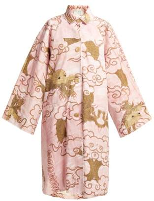 By Walid Dorothee Antique Cotton Coat - Womens - Pink Multi