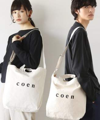 Coen (コーエン) - coen 【2017FW新色登場】coen2WAYロゴトートバッグ