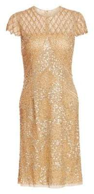 Sequin Illusion Cocktail Dress