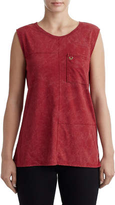 True Religion WOMENS SEAMED BOXY TANK