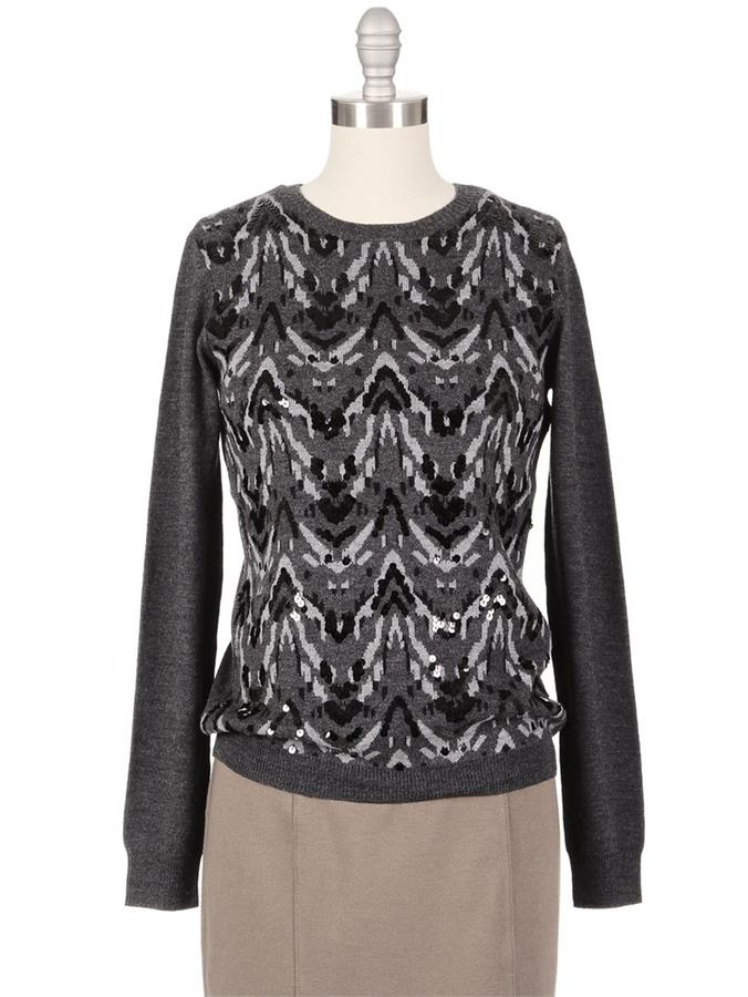 GRYPHON Sequin Ikat Sweater