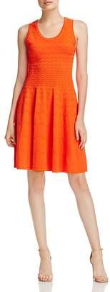 Milly Degrade Chevron Fit-and-Flare Dress
