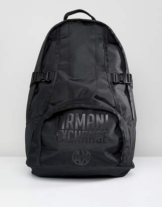 Nylon Logo Backpack In Black