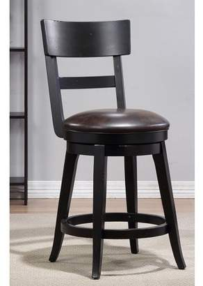 Unbrended Alex Counter Height Swivel Stool, Black