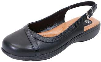 b28b78e53a27 Peerage FIC June Women Extra Wide Width Leather Slingback Clog 8.5