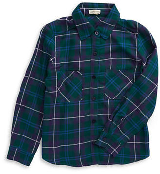 Monteau Girls 7-16 Plaid and Paisley Button-Front Shirt $32 thestylecure.com