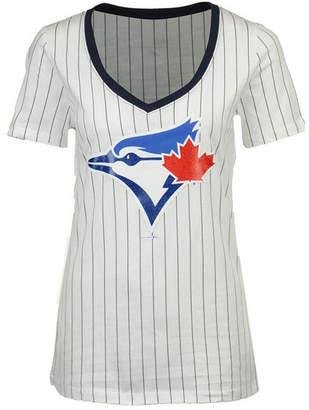 5th & Ocean Women's Toronto Blue Jays Primary Pinstripe T-Shirt