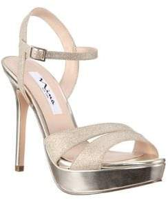 Nina Silana Glitter Platform Sandals