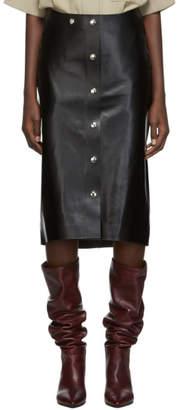 Victoria Beckham Black Leather Skirt