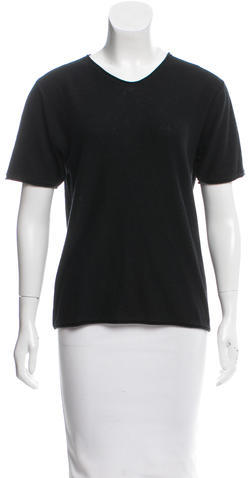 Alexander Wang T by Alexander Wang Knit Short Sleeve Top