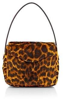Edie Parker Women's Hot Box Leopard-Print Calf Hair Shoulder Bag