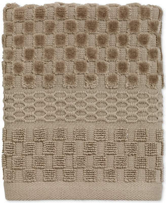 Avanti Checkerboard Cotton Terry Jacquard Washcloth Bedding
