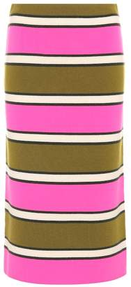 Marc Jacobs Striped cashmere pencil skirt