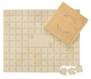 Cathy's Concepts Wedding 2018 Personalized Wedding Guestbook Wooden Puzzle