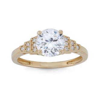 FINE JEWELRY Diamonart Womens 1 7/8 CT. T.W. Lab Created White Cubic Zirconia 10K Gold Engagement Ring