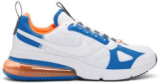 Nike White and Blue Air Max 270 Futura Sneakers