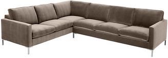 One Kings Lane Amia Left-Facing Sectional - Café Crypton