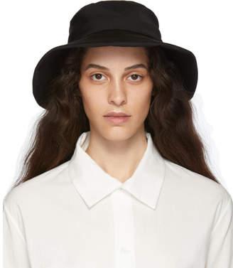 Y's Ys Black Gabardine Tied Hat