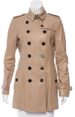 Burberry Burberry Leather Double-Breasted Jacket