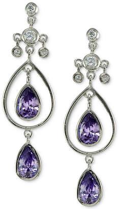 Giani Bernini Cubic Zirconia Double Teardrop Drop Earrings in Sterling Silver, Created for Macy's