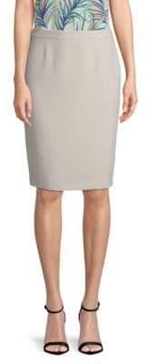 BOSS Vimena Textured Crepe Pencil Skirt