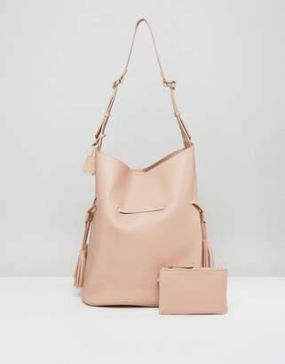 Glamorous Oversized Hobo Bag With Tassel Detail