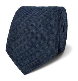 Richard James 7.5cm Herringbone Slub-Silk Tie