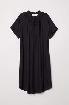 H&M Short-sleeved Dress - Black
