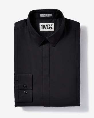 Express Slim Easy Care Tuxedo 1Mx Shirt