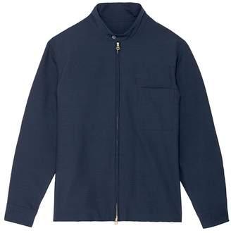 Camoshita Stand collar seersucker shirt jacket