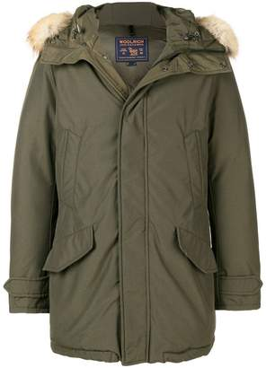 Woolrich fur hooded coat