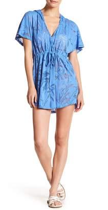 J Valdi Hooded Surplice Dress