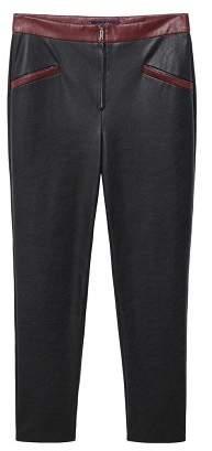 Violeta BY MANGO Faux-leather pants