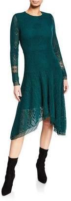 See by Chloe Long-Sleeve Lace Asymmetrical Dress