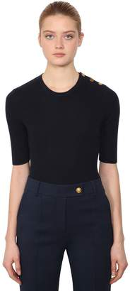 Tory Burch Short Sleeve Cashmere Knit Sweater