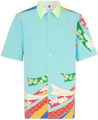Maison Margiela Japanese floral print cotton shirt