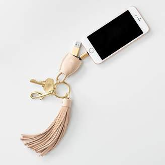 Mark And Graham Power Up Lightning to USB Tassel Keychain